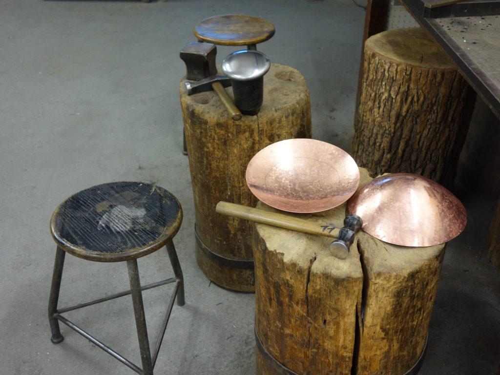 Kupfertreiben Werkstatt Kyral